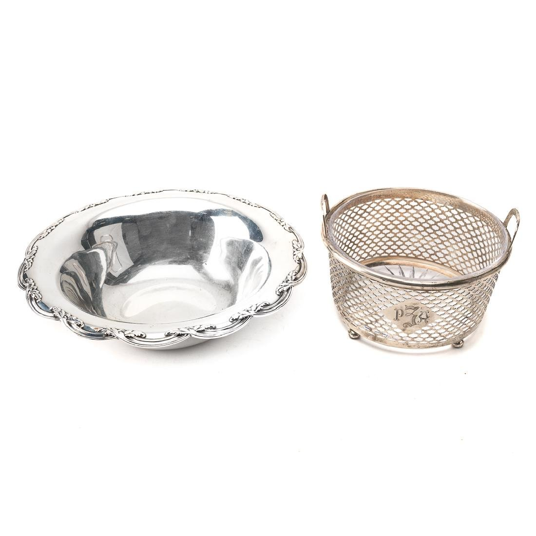 Tiffany & Co. sterling center bowl & ice bucket