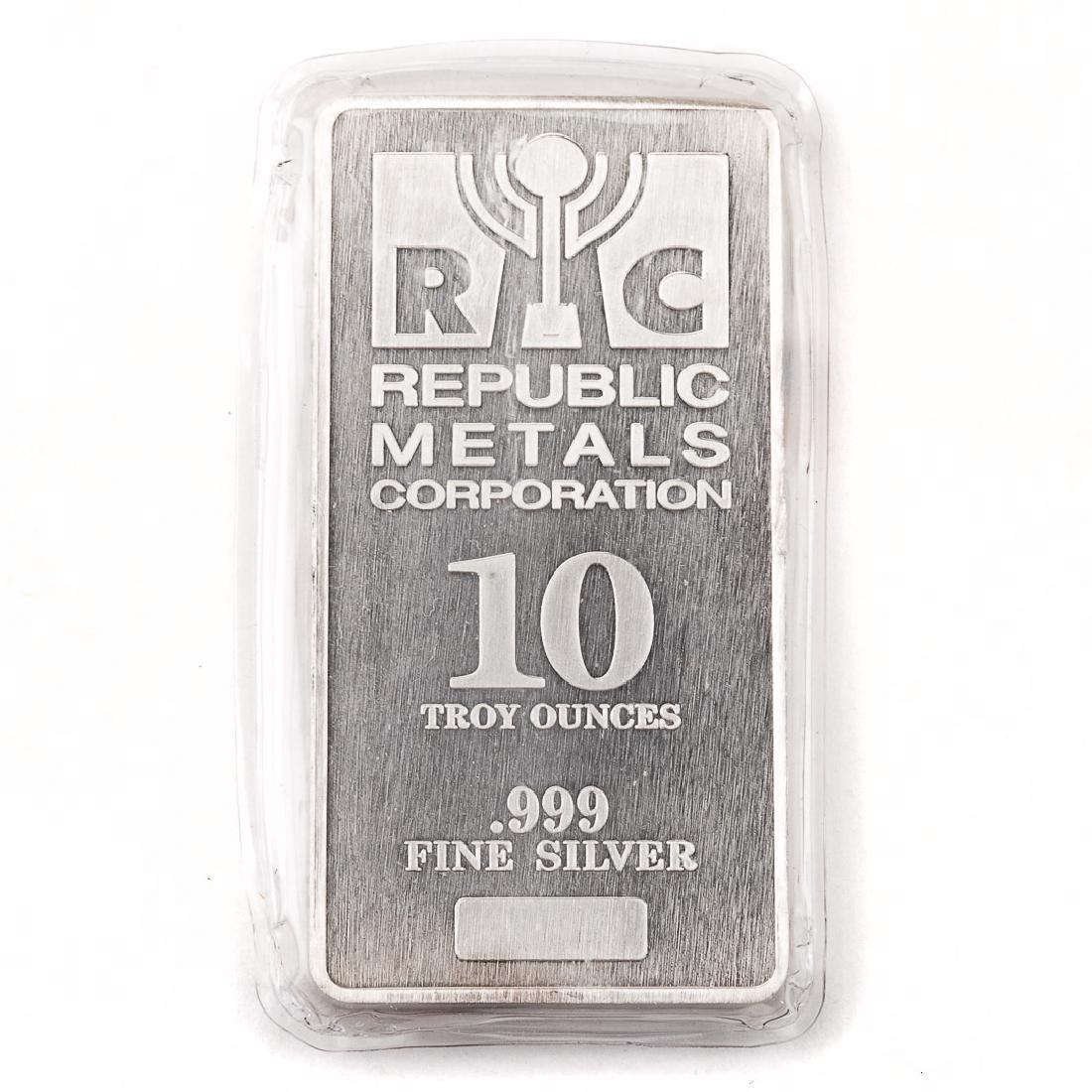 [US] 10 Ounce .999 Silver Bar - Republic Metals