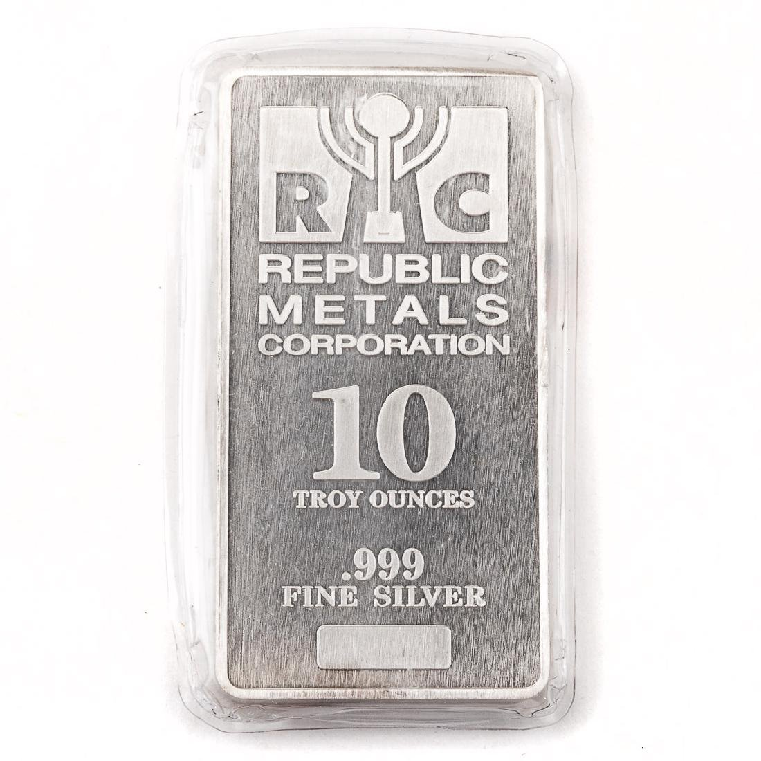 [US] 10 Ounce .999 Silver Bar - Republic Metals
