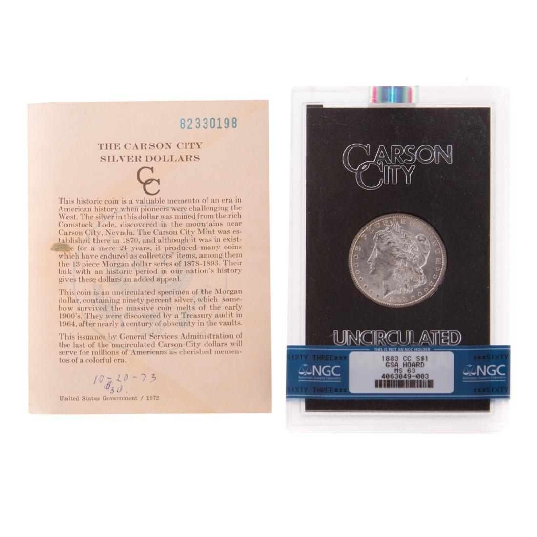[US] 1883-CC GSA NGC-MS63 Morgan Dollar