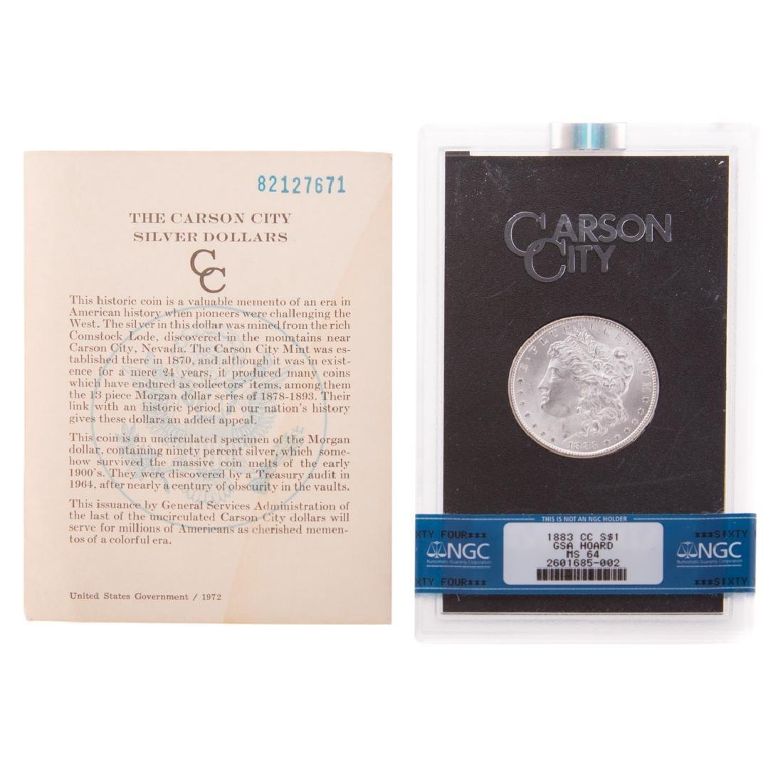 [US] 1883-CC GSA NGC-MS64 Morgan Dollar