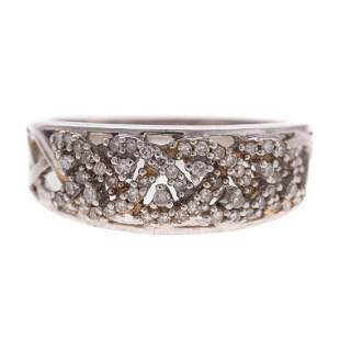 A Ladys Diamond Ring in 14K Gold