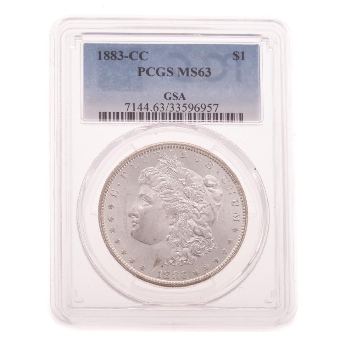 "[US] 1883-CC PCGS MS63 Morgan Dollar ""GSA"""