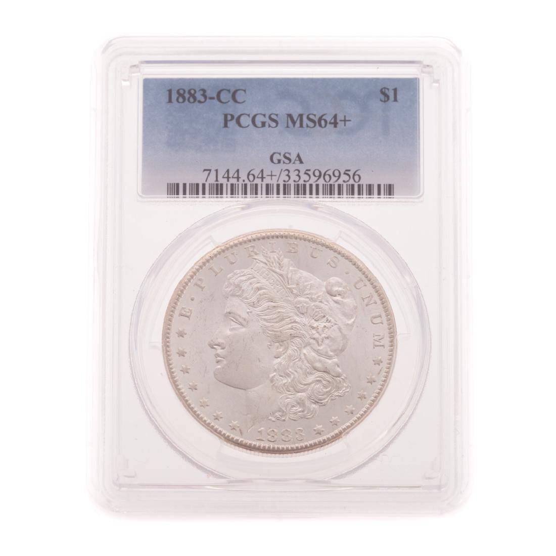 "[US] 1883-CC PCGS MS64+ Morgan Dollar ""GSA"""