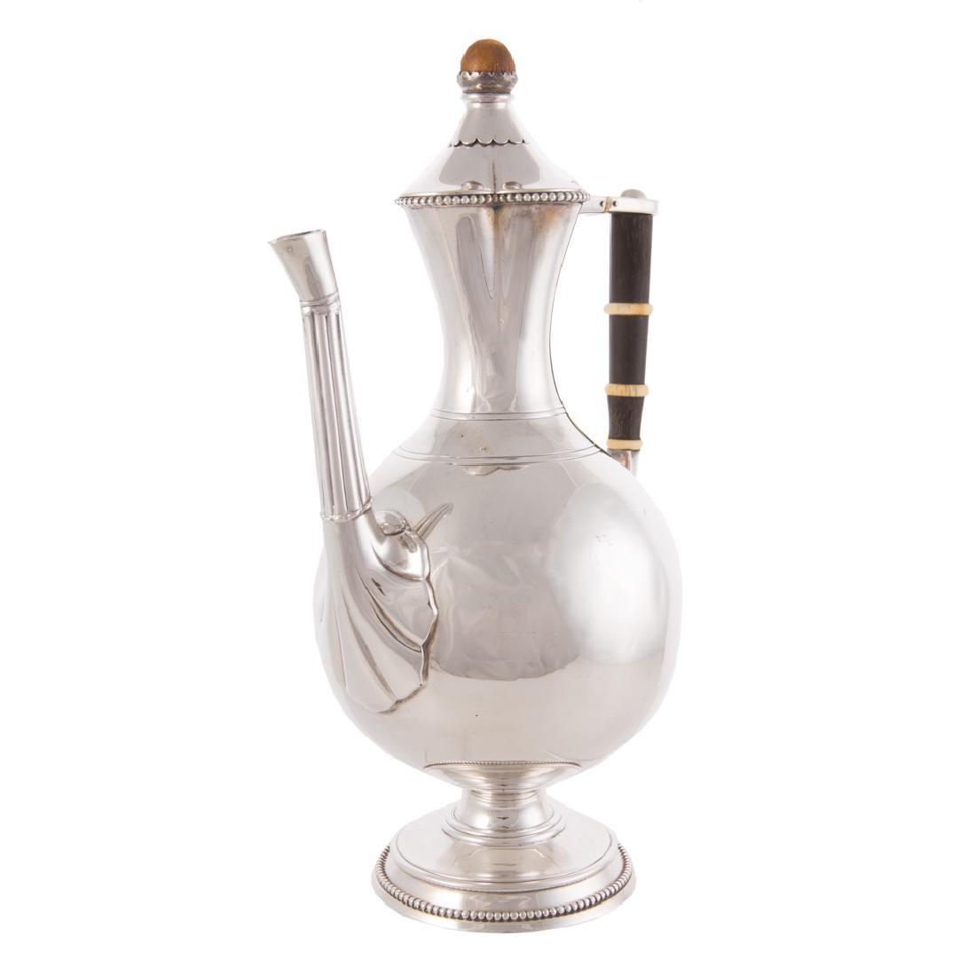Victorian silver coffee pot