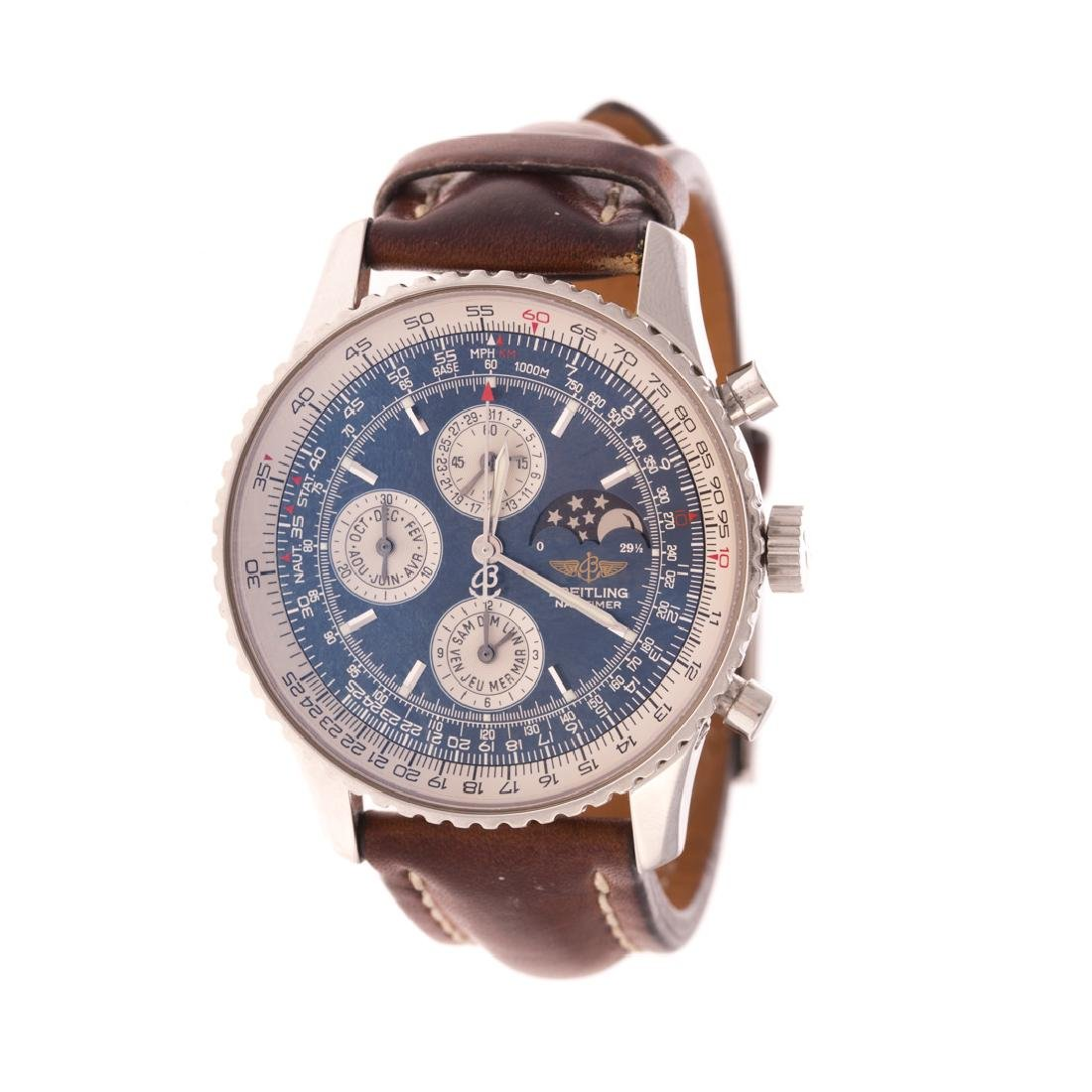 A Gent's Breitling Navitimer 1461 Stainless Watch