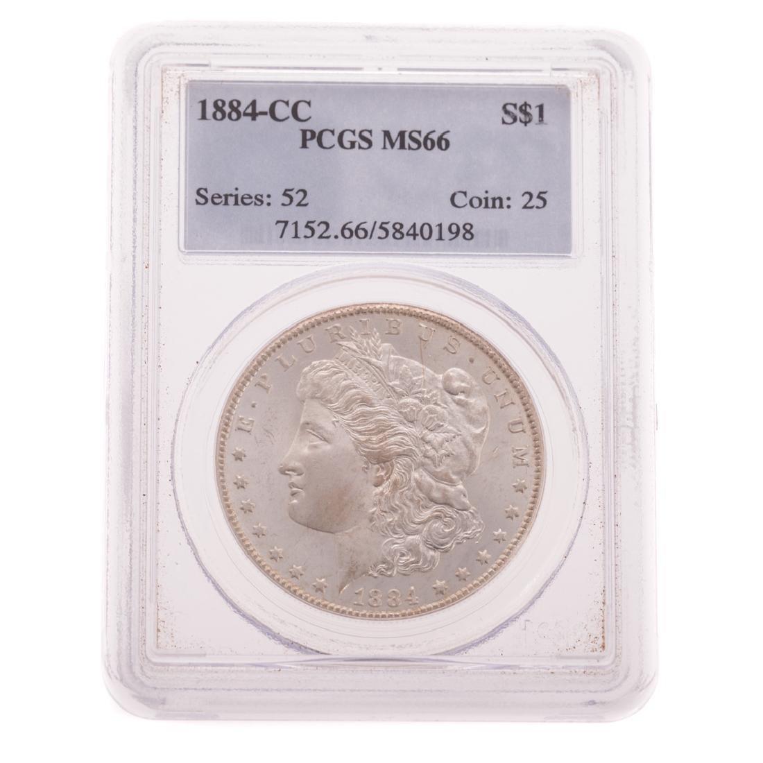 [US] 1884-CC PCGS MS66 Morgan Dollar