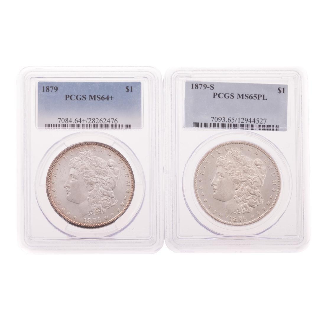 [US] 1879 PCGS MS64+ & 1879-S PCGS MS65PL