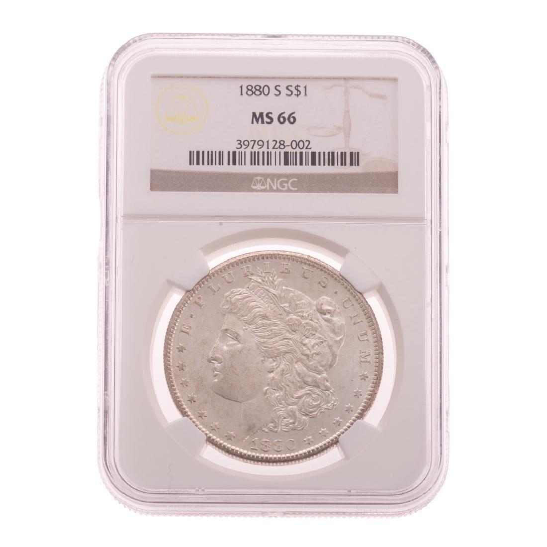 [US] 1880-S NGC MS66 Morgan Dollar