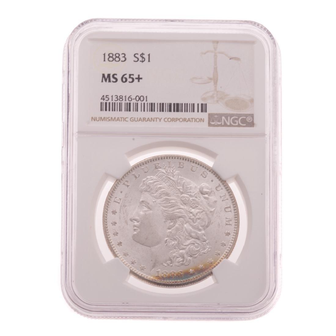 [US] 1883 NGC MS65+ Morgan Dollar
