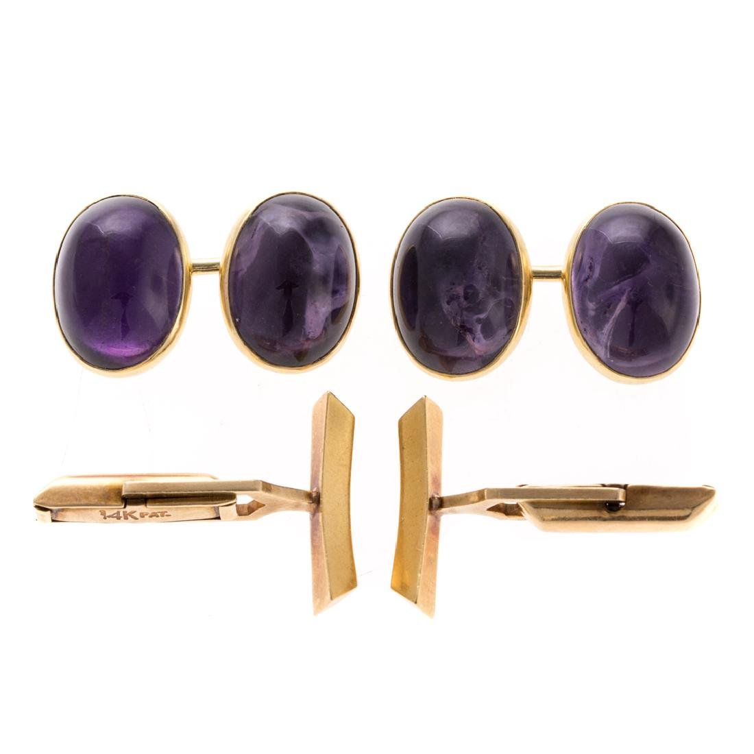 Two Pairs of Gent's Cufflinks in Gold
