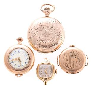 A Collection of Ladys Lockets Pocket Watches