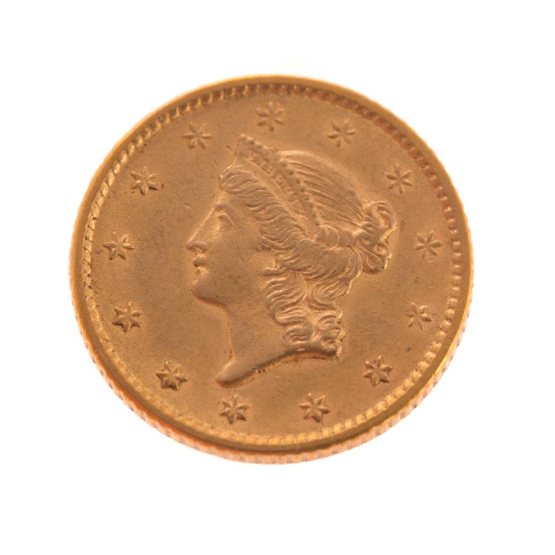 [US] 1852 $1 Gold Liberty - AU