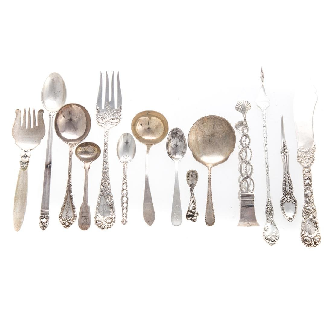 Collection of sterling flatware 53 pieces