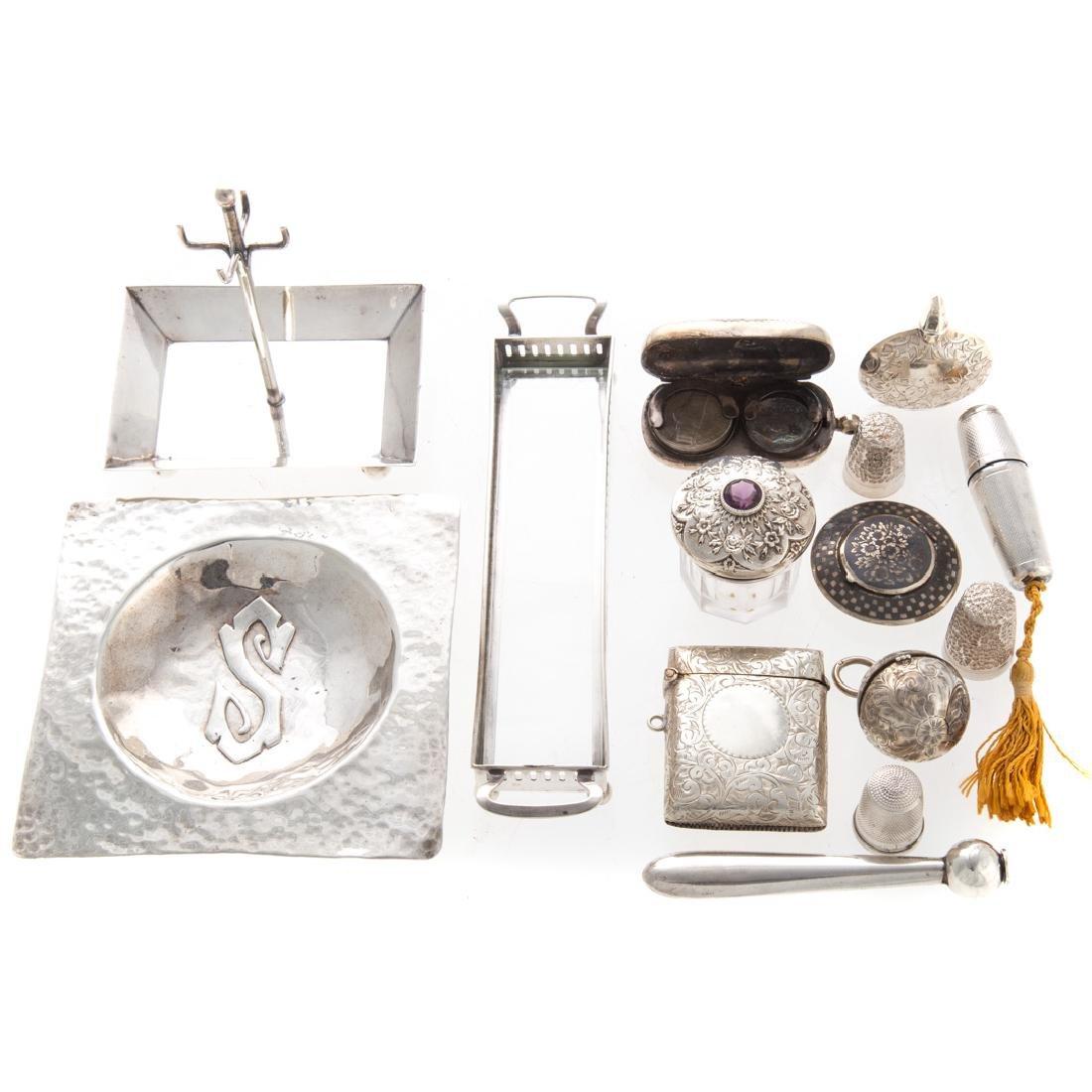 Collection of sterling objets de vertu