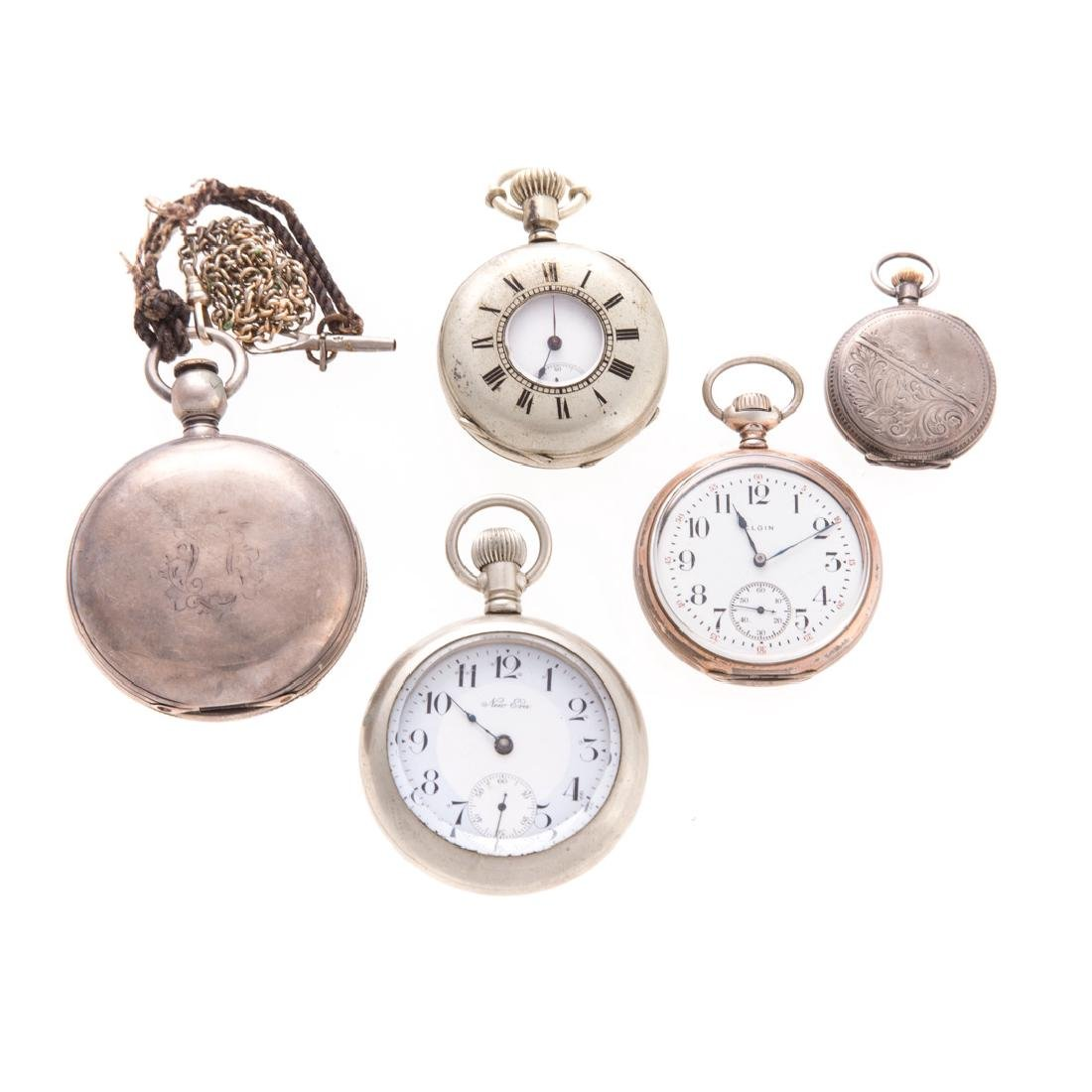 A Collection of Railroad & Pocket Watches