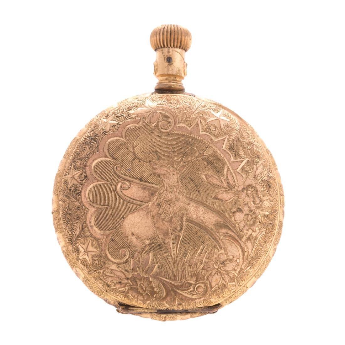 A Gentlemen's Pocket Watch in 14K Gold