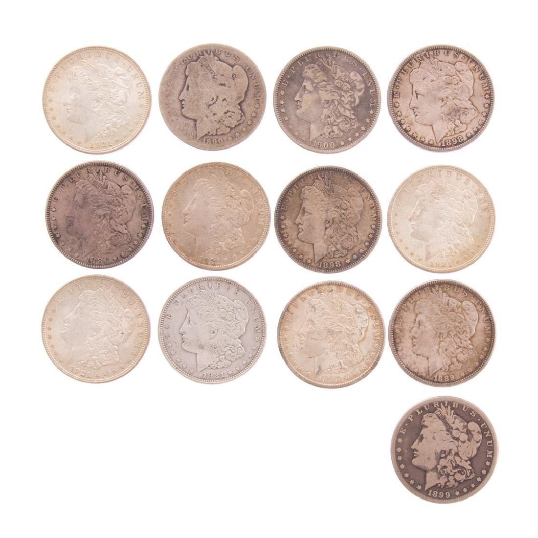 [US] 13 Morgan Silver Dollars