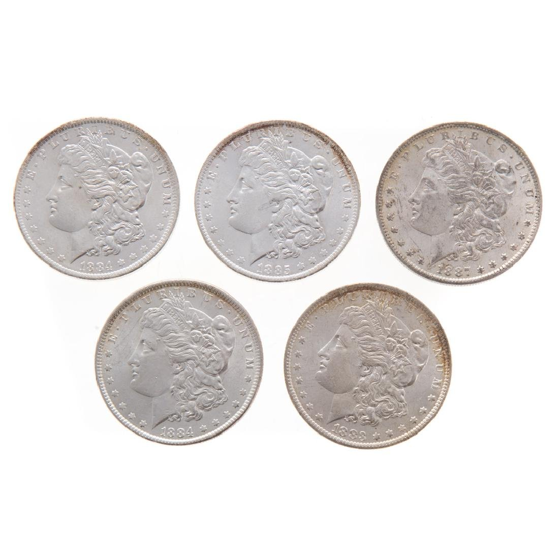 [US] Five Uncirculated Morgan Dollars 1883-1887