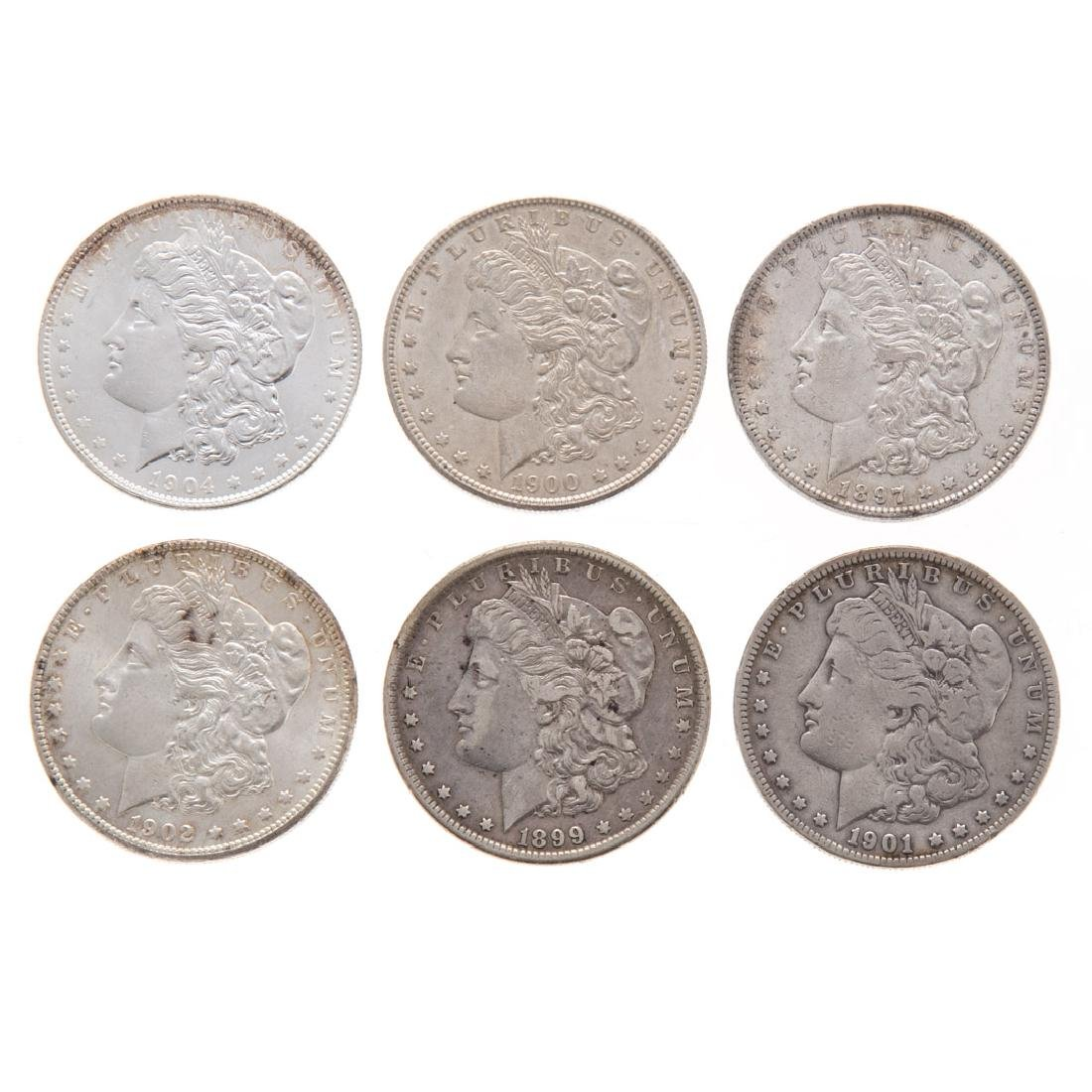 [US] Six Morgan Dollars 1897-1904