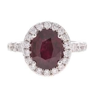 A Statement 272 ct Ruby Diamond Ring