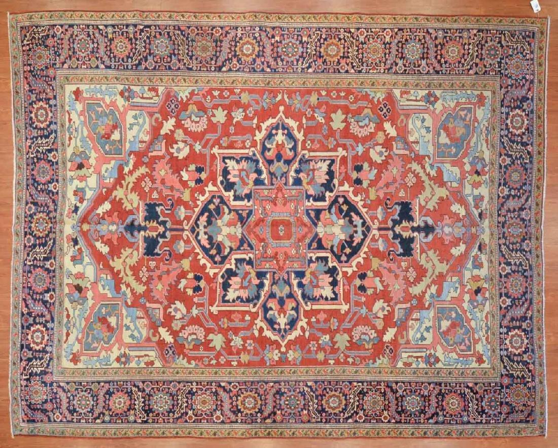 Rare antique Serapi carpet, approx. 9.8 x 12.2