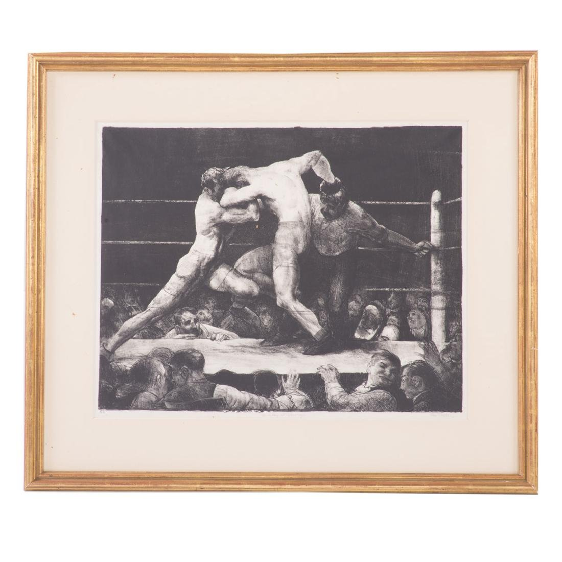 "George Bellows. ""A Stag at Sharkey's"" lithograph"