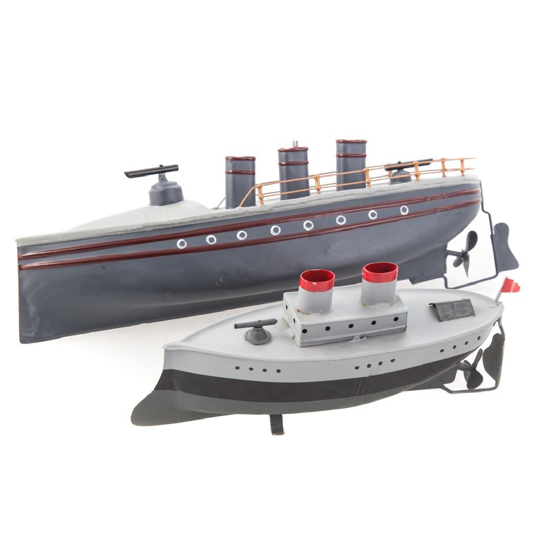 Carette torpedo boat and Fleischmann gunboat