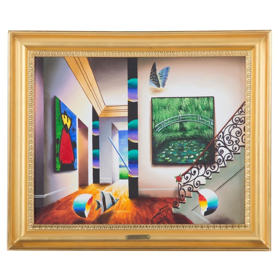 Ferjo. Surrealist Interior with Monet and Miro