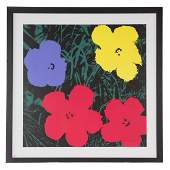 After Andy Warhol Flowers color screenprint