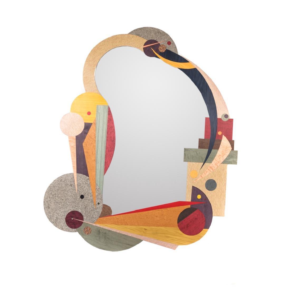 Jay Stanger polychrome veneer mirror
