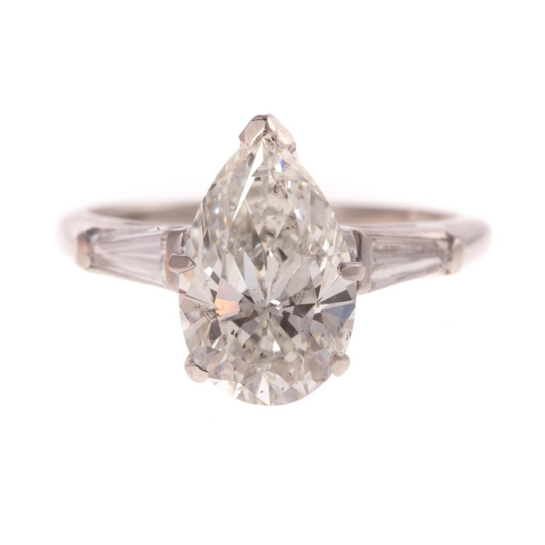 A 2.53ct Pear Shape Diamond Engagement Ring