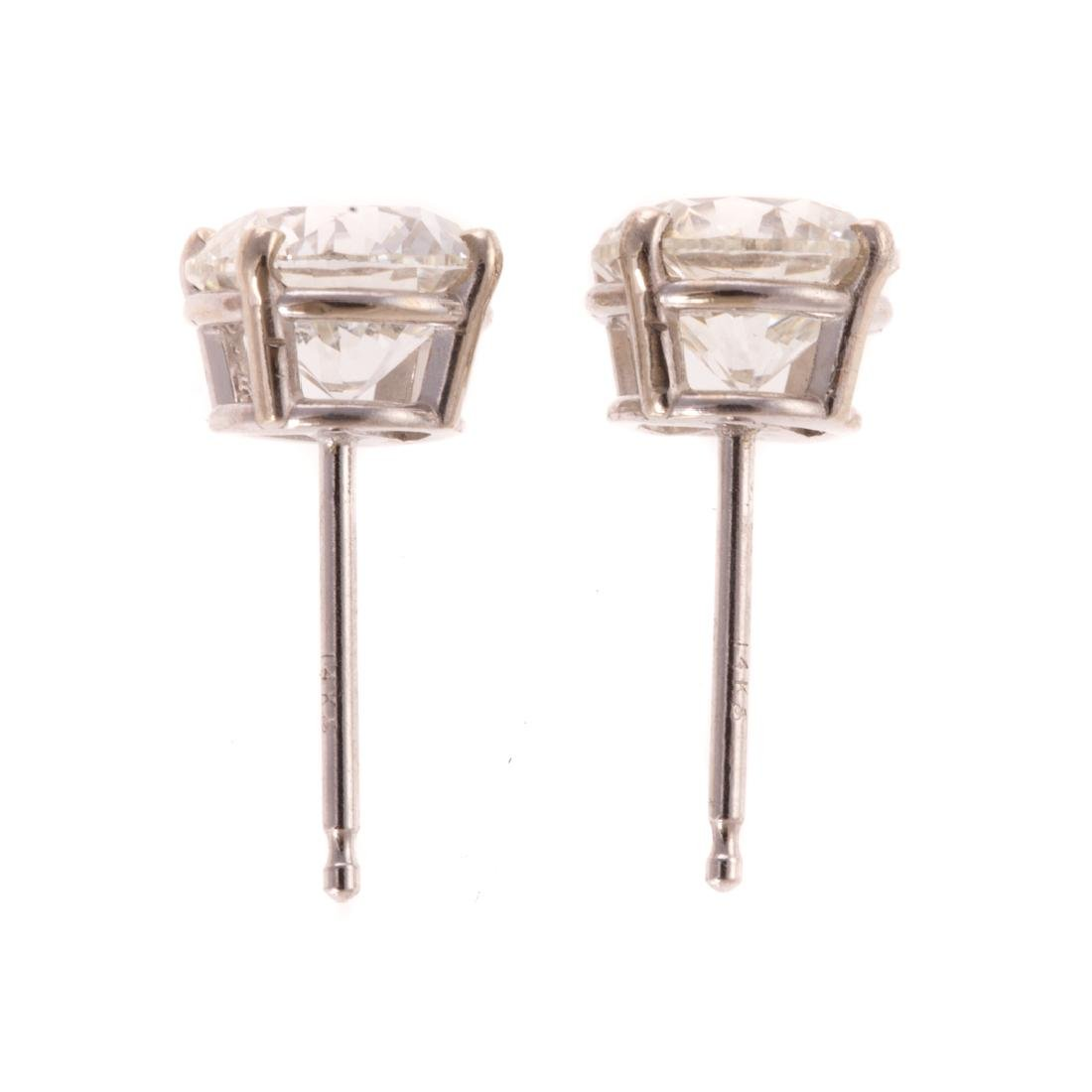 A Pair of 2.01 tcw Diamond Studs in 14K White Gold - 2