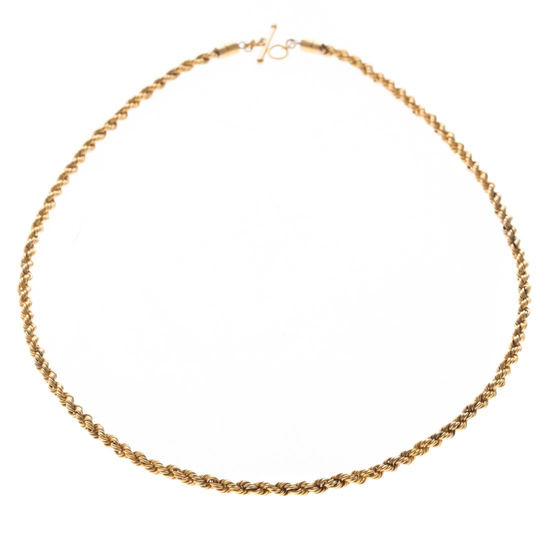 A Hefty Rope Chain in 18K Yellow Gold