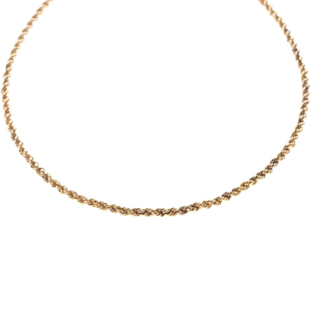 A Hefty Rope Chain in 18K Yellow Gold - 2