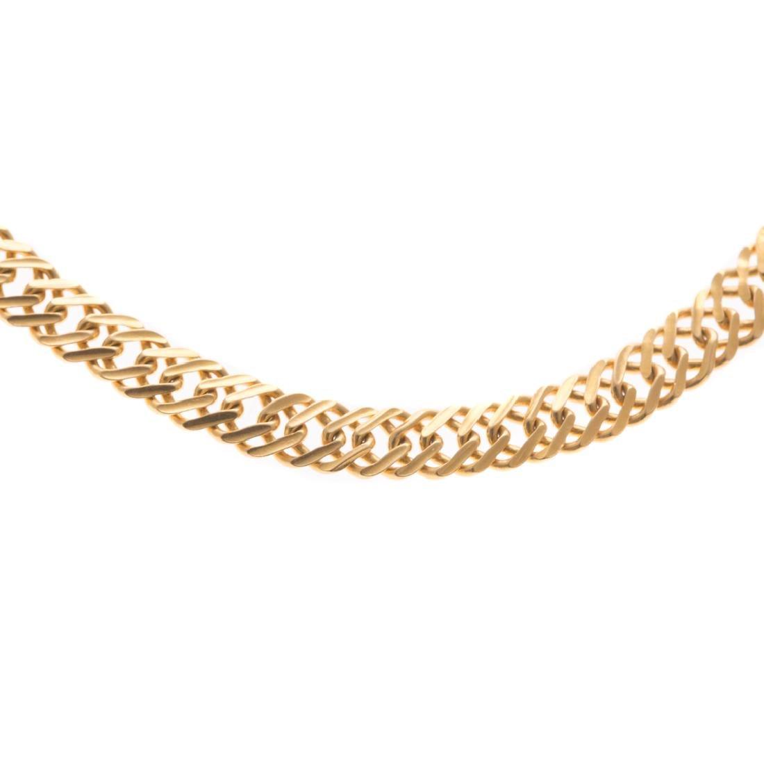 A Lady's 22K Flat Curbed Link Bracelet - 2