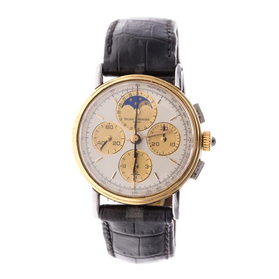 A Gent's Baume & Mercier Moonphase Chronograph