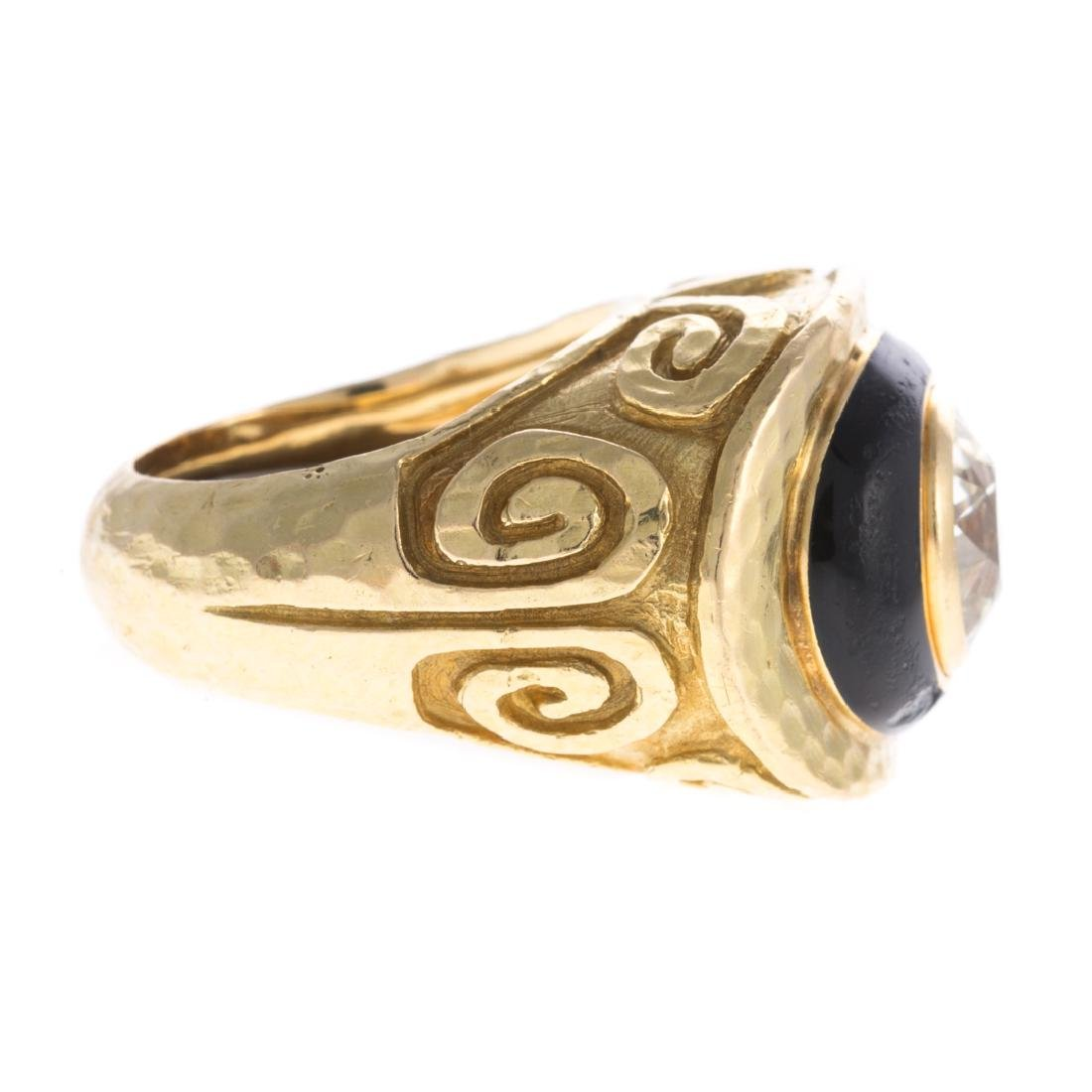 A 18K Diamond Ring & Enamel by David Webb - 3