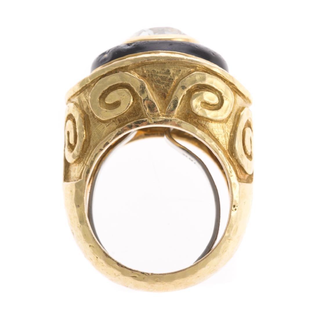 A 18K Diamond Ring & Enamel by David Webb - 5