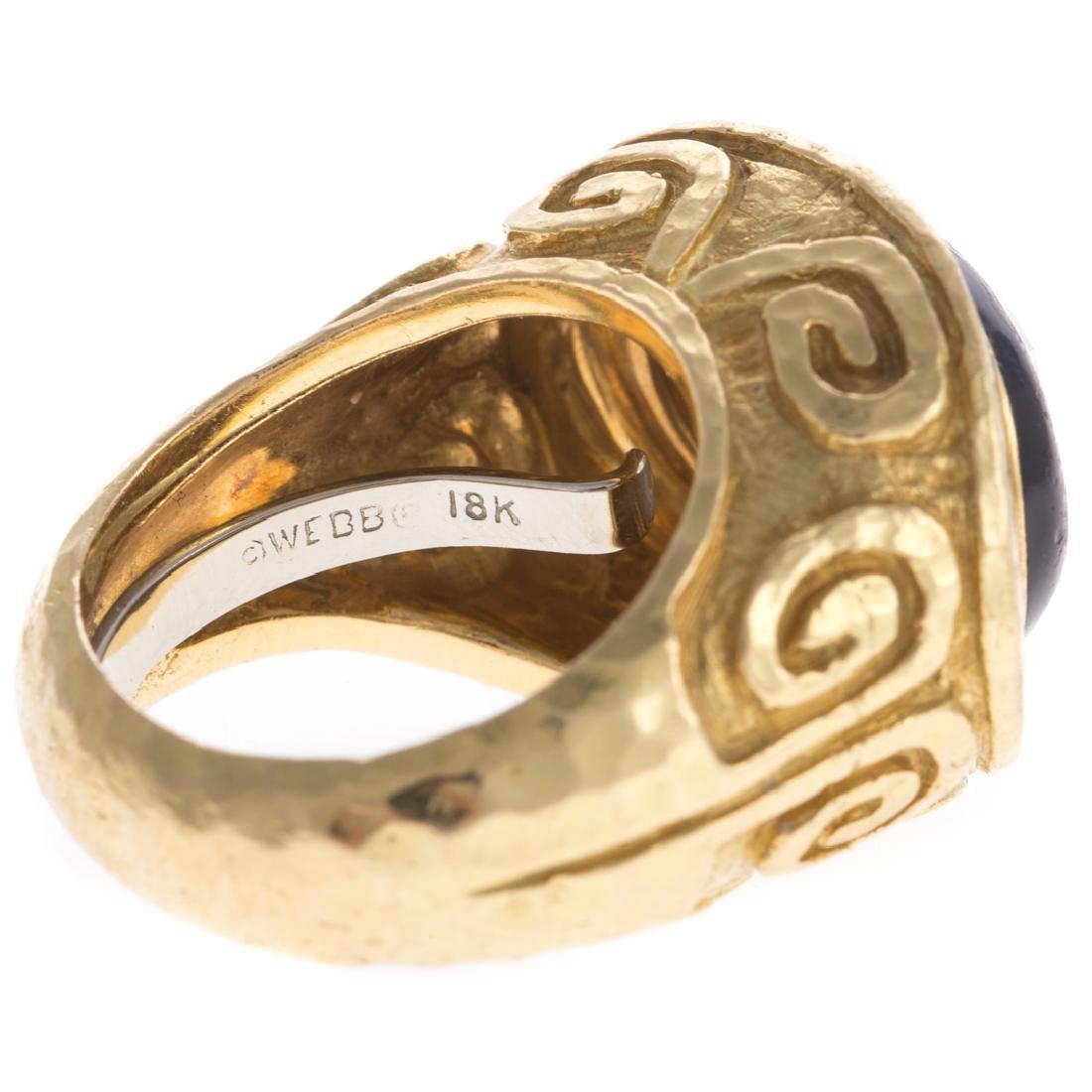A 18K Diamond Ring & Enamel by David Webb - 7