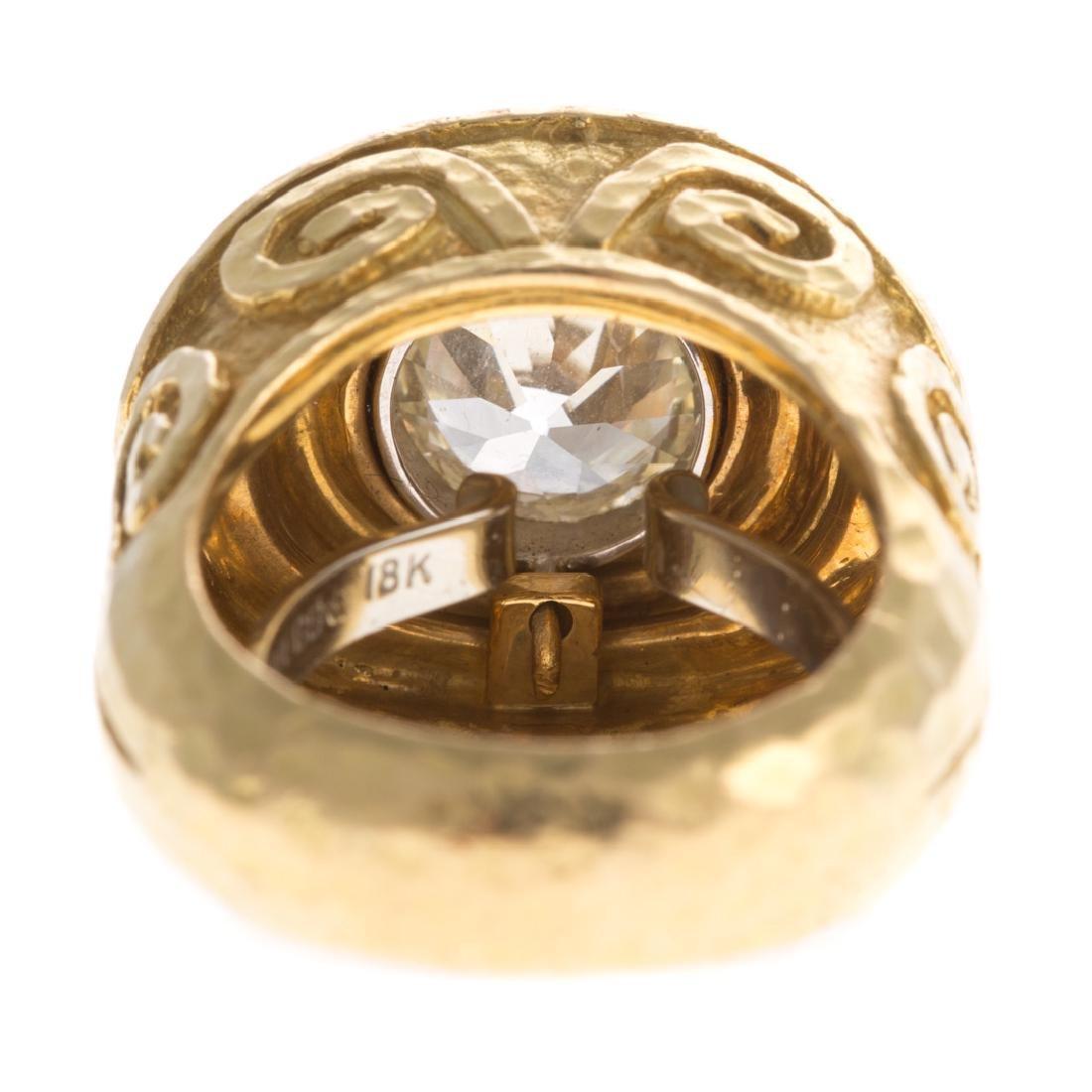 A 18K Diamond Ring & Enamel by David Webb - 8