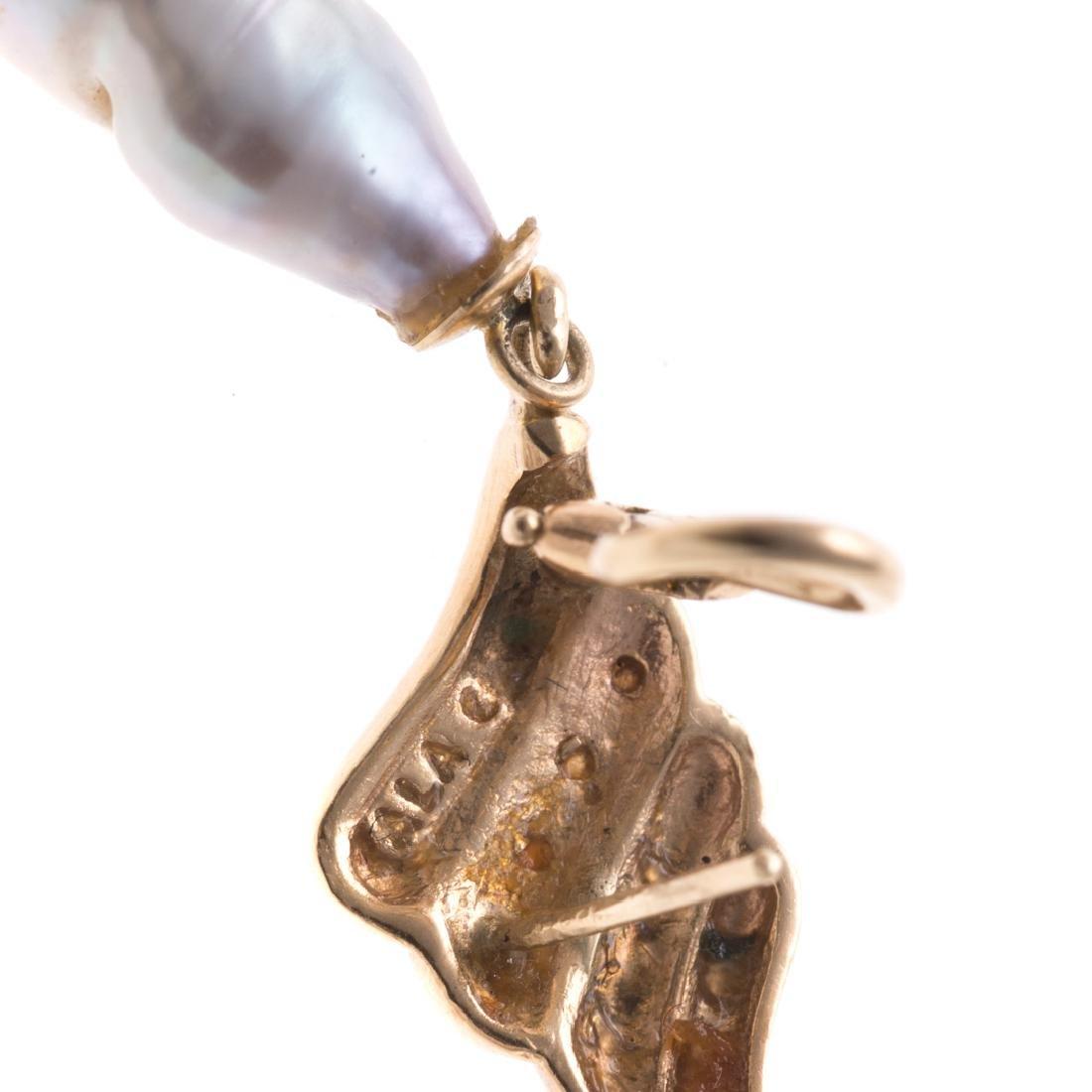 Two Pairs of Vintage Gemstone Earrings in Gold - 5