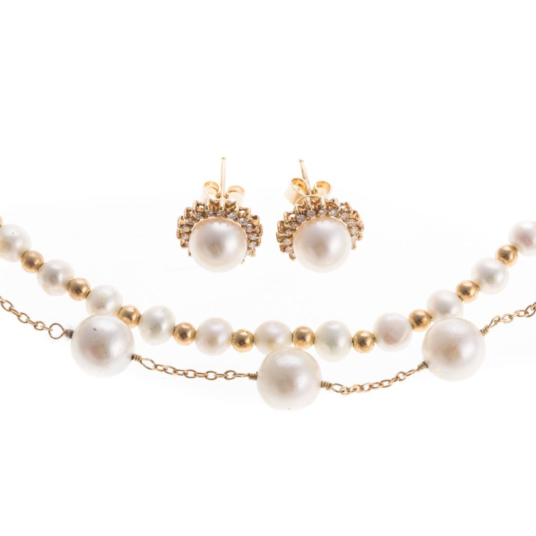 A Selection of Lady's Pearl Jewelry