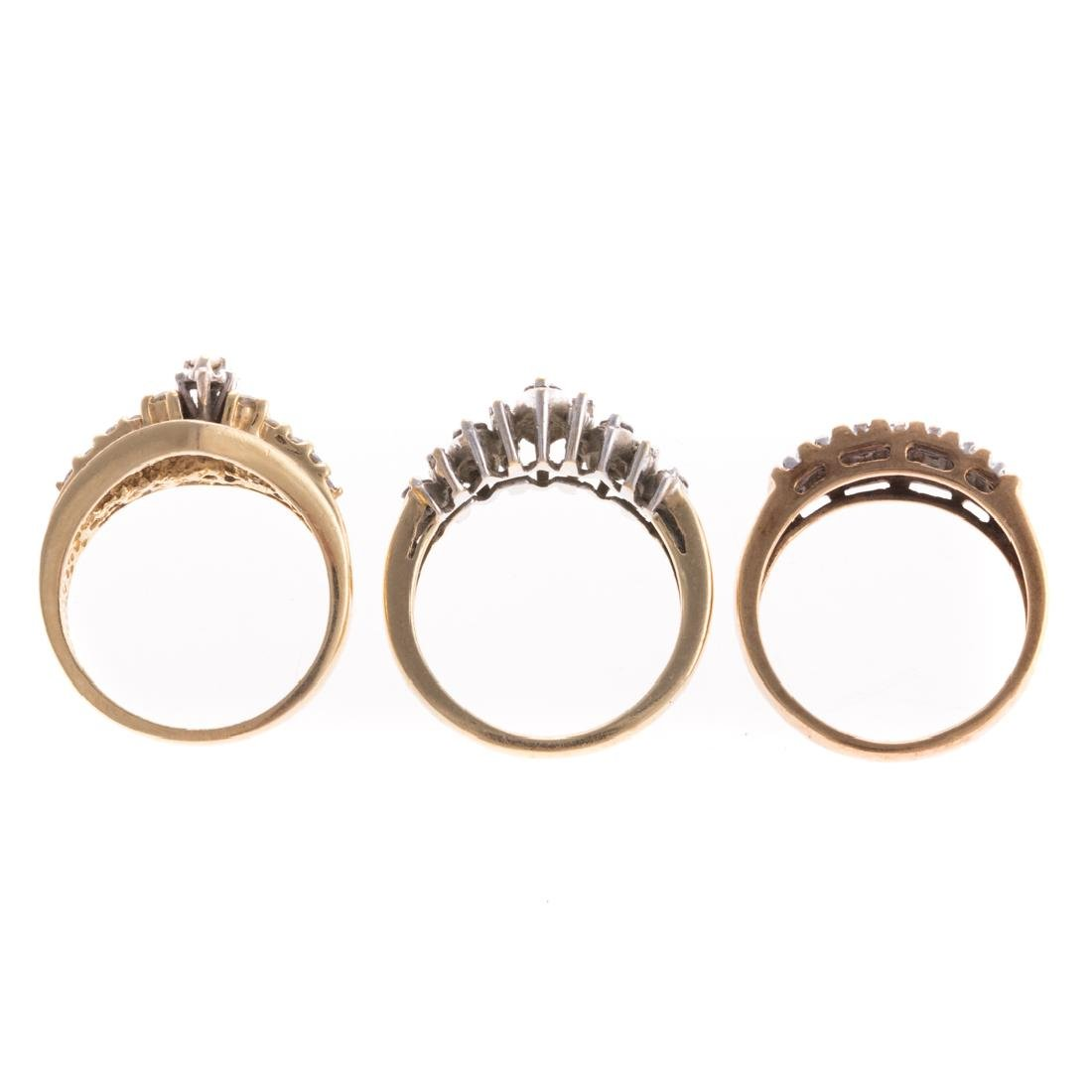 A Trio of Lady's Diamond Bands in Gold - 6