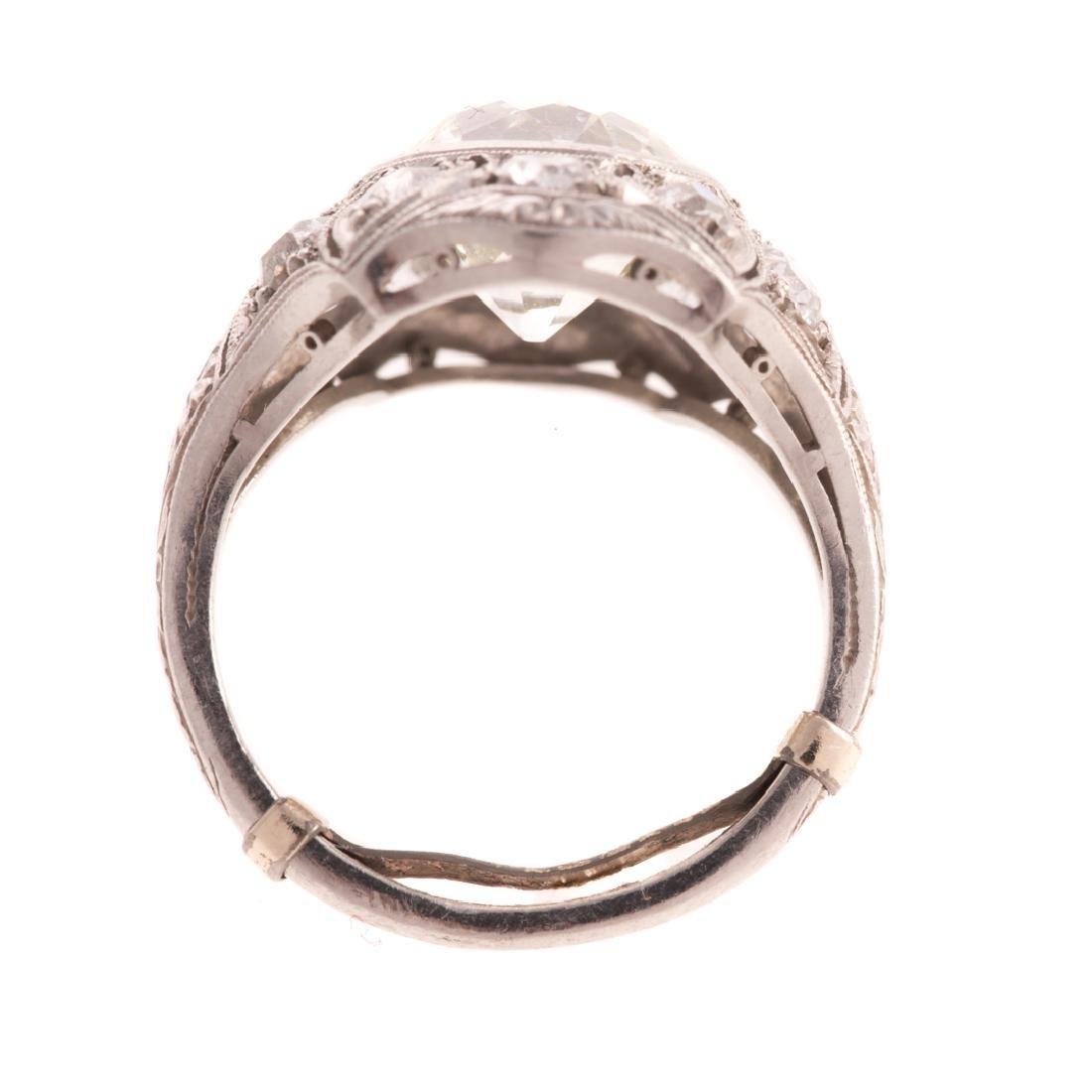 A Lady's 4.51 Diamond Art Deco Ring in Platinum - 3