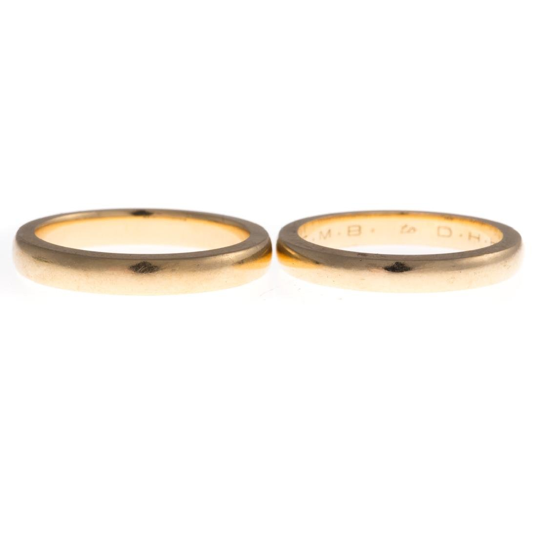 A Pair of 14K Turquoise Guards Rings & Gold Bands - 2