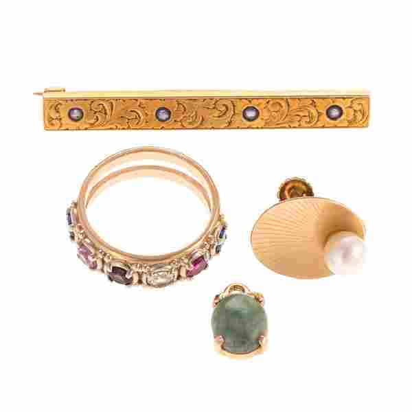 A Lady's Collection of Gold Jewelry
