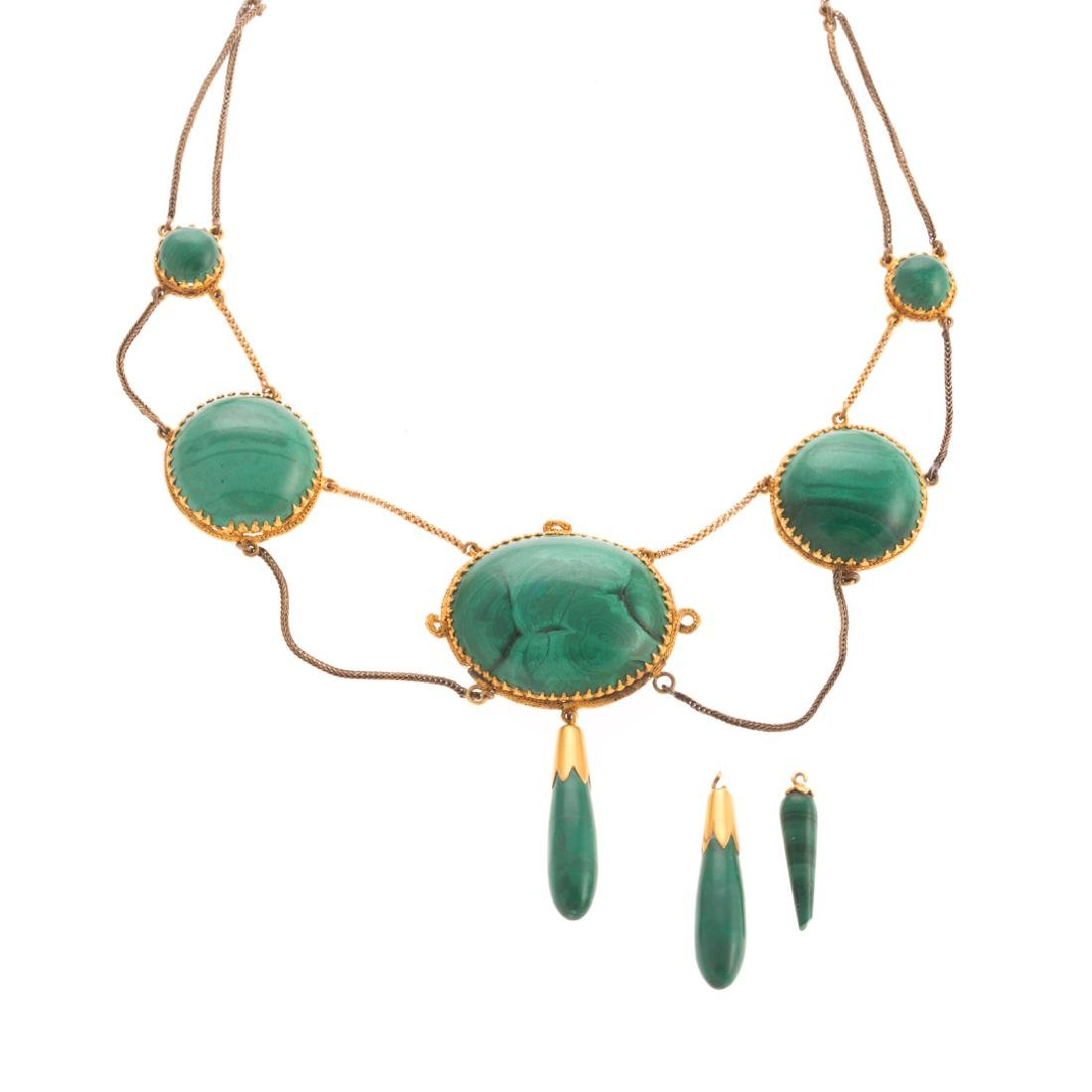 A Lady's Victorian Malachite Necklace