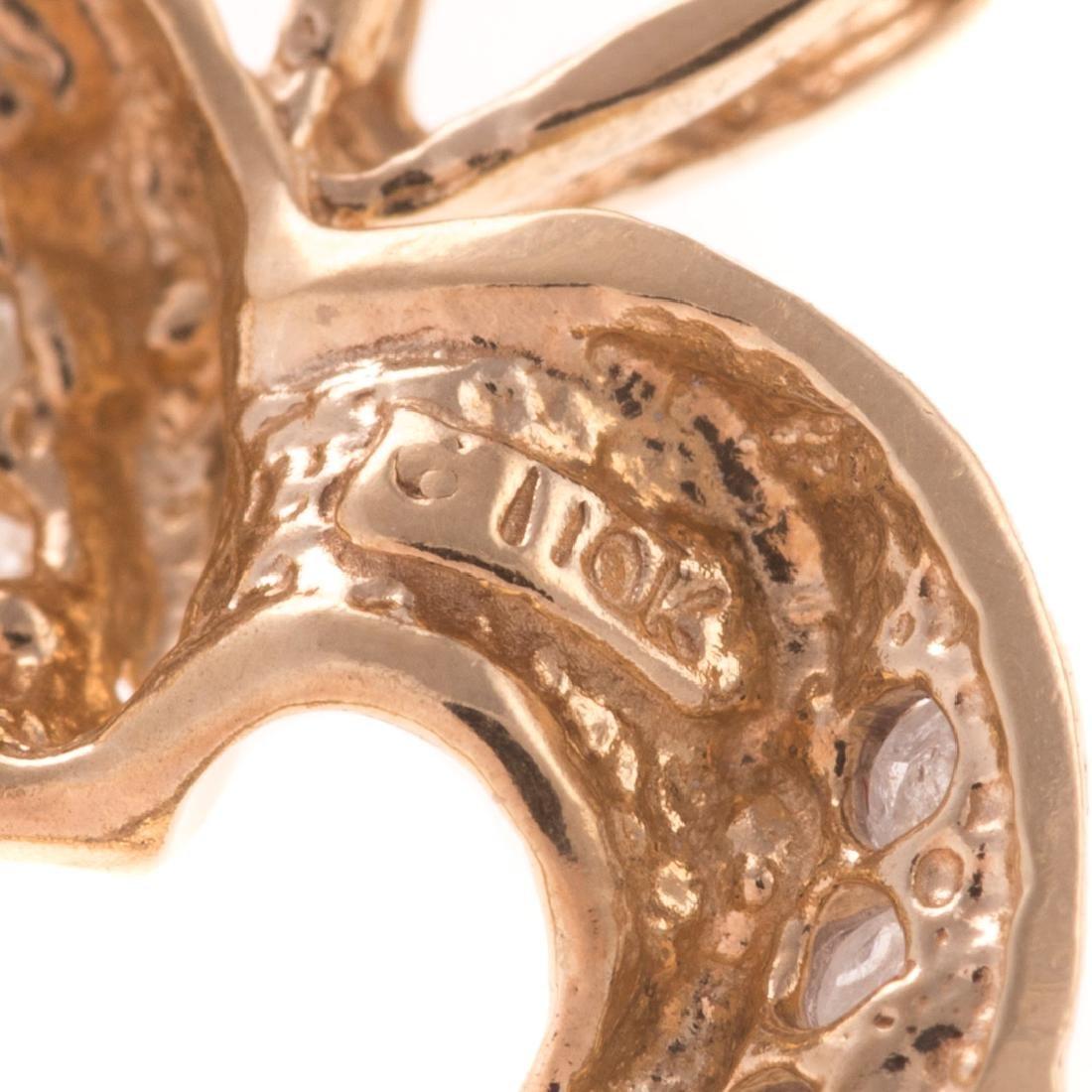 A Trio of Diamond Open Heart Pendants in Gold - 5