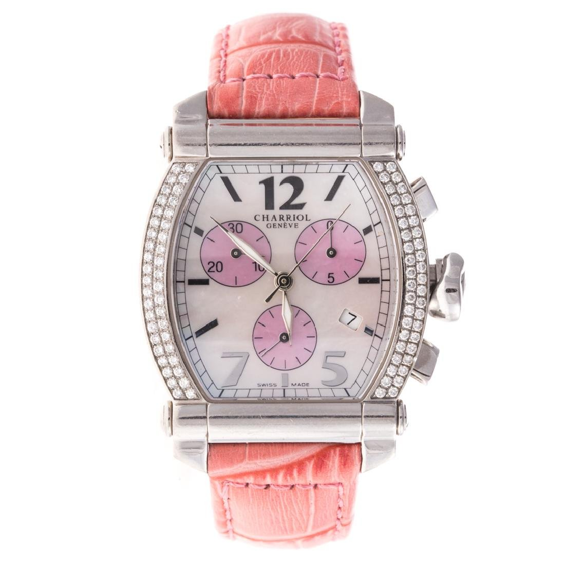 A Lady's Charriol Columbus Watch with Diamonds
